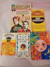 LoT 5 Vtg LiBrA Horoscoup Astroger 1967 71 Book Magazine ZoDiAc cOsMo GiRl hippy