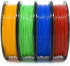 Gizmo Dorks PLA Filament 3mm 200g 4 Pack Orange, Blue, Red, Green- Same Day Free