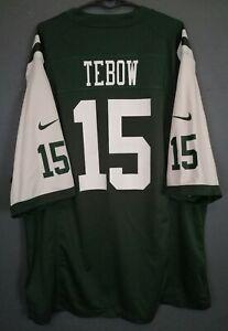 MEN'S NIKE NEW YORK JETS TIM TEBOW #15 NFL FOOTBALL SHIRT JERSEY SIZE 2XL XXL