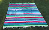 Sarape serape mexican blanket yoga throw rug tablecloth table runner rv large.