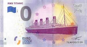 Commemorative 0 Euro Limited Edition Souvenir Banknote of the RMS Titanic