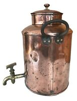 Circa 1940's Copper 2 Gallon Water Boiler Decorative Vintage Farm House Kitchen