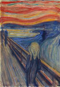 Edvard Munch 1893 The Scream Art Canvas Print A3