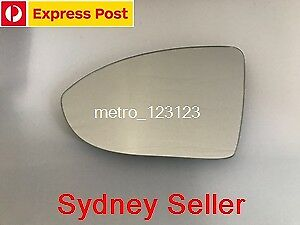 LEFT PASSENGER SIDE VW GOLF MK7 2012 - 2018 MIRROR GLASS WITH HEATED BACK PLATE