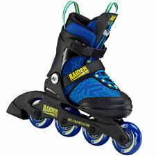 K2 Raider Pro Kinder-Inline Skates Größenverstellbar Inliner Junior Blau-Gelb