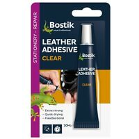 Bostik LEATHER Adhesive Clear Extra Strong Waterproof For Shoes Belts Bags 20ml