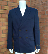 VIVIENNE WESTWOOD NAVY BLUE DOUBLE BREASTED LINEN JACKET SIZE 42 RETAIL £757
