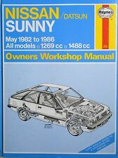 NISSAN DATSUN SUNNY PETROL 1982 TO 1986 HAYNES WORKSHOP MANUAL