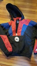 Vintage 90s Philadelphia 76ers Sixers Pullover Starter Jacket Coat medium M rare