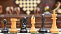 """The Imperial Collector Series Chess Set in Ebony Wood & Box Wood - 3.75"""" King"""