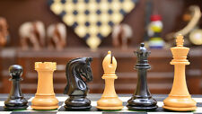 "The Imperial Collector Series Chess Set in Ebony Wood & Box Wood - 3.75"" King"