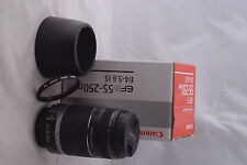 Canon EFs 55-250mm f/4-5.6 IS Lens Boxed in Mint- Condition