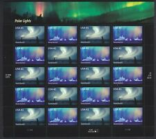 POLAR LIGHTS (2 SHEETS) 2007 US AURORA BOREALIS 41c MINT VF 20 STAMP