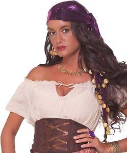 Gypsy Head Scarf Mystic Fortune Teller Fancy Dress Halloween Costume Accessory