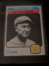 1973 TY COBB ALL-TIME BATTING LEADER MLB BASEBALL CARD #475 TIGERS