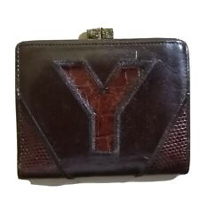 Authentic YSL Vintage Leather Bifold Compact Wallet