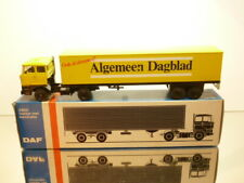 LION CAR 59 DAF 2800 TRUCK + EUROTRAILER ALGEMEEN DAGBLAD 1:50 - VERY GOOD IB