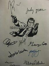Archer Signed TV Script H Jon Benjamin Chris Parnell Judy Greer Aisha Tyler rpnt