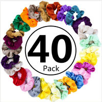 10/20/40 Pack Velvet Hair Scrunchies Elastic Bands Scrunchy Ponytail Holder Ties