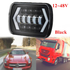12~48V DC LED Projector Headlight Lamp Hi-Lo Beam Halo IP67 Waterproof Bright