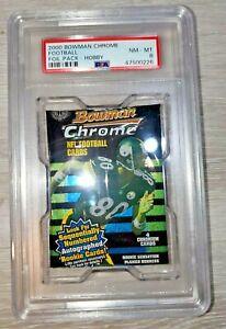 2000 BOWMAN CHROME GRADED HOBBY FOOTBALL PACK,PSA 8 NM/MT, TOM BRADY ROOKIE YEAR