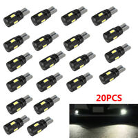 4x T10 Bulbs W5W 501 Canbus Lights LED COB SMD 3030 Bright White Car Error Free