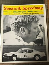 Seekonk MA Speedway 1980 Stock Car Racing program George Murray Wayne TW Collins
