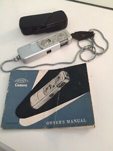 Vintage Minox III Wetzlar Subminiature Spy Camera Case Chain Manual 15mm f3.5