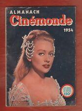 CINEMA Almanach Cinémonde 1re édition 1954. Calendrier pin-up N&B par Sam Levin
