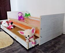 Kinderbett Jugendbett Juniorbet Komplett Set 70x140 Schublade Matratze weiß rosa
