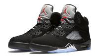 Nike Air Jordan Retro 5 V Black Metallic OG Size 7-18 Red Silver 845035-003