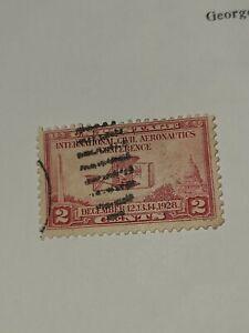 1928 US Stamp 2c International Civil Aeronautics Conference SC#649 Used - #2921