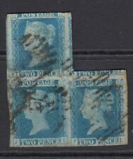 GB SG14 block of 3-2 stamp have 4 large marginf the other is 3 margin-good used