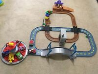 Paw Patrol Lot Railway Train /Launch N Roll Lookout Tower Tracks & Racers Robodo