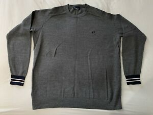 Mens Fred Perry - Long Sleeve Grey Top - XXL