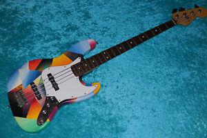 Custom Hand Painted Fender Mexican Standard Jazz Bass MIM Mexico