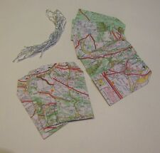 Travel Map gift tags Wedding birthday Leaving handmade