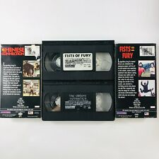 Bruce Lee Fists of Fury & The Chinese Connection (VHS, 1993, 2 Tape Lot)