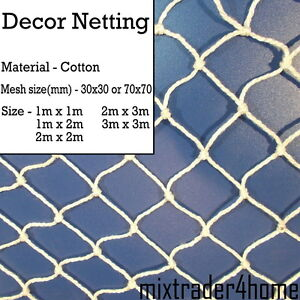 Decoration Netting Cotton Net 2mm Cord Natural Decor Home Party Scene Stage Bar