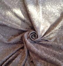 11 Metres Velvet Chrysanthemum Designer  Curtain Upholstery Fabric In Mocha