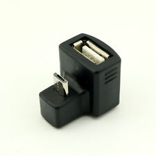 180 Degree UP Right Angled Micro USB OTG to USB 2.0 A Female Extension Adapter