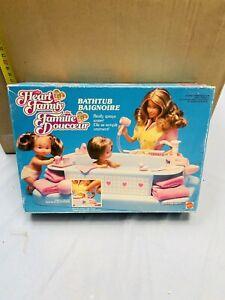 FAMIGLIA CUORE MATTEL BABY BATHTUBE NEW VINTAGE ANNI '80!!