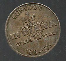 CORYDON INDIANA, FIRST STATE CAPITOL Vintage 1966 Sesquicentennial Token