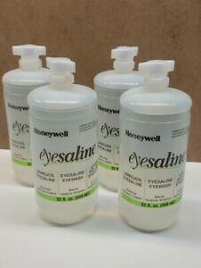 (LOT of 4) HONEYWELL Replacement Eye Wash Bottle,32 Oz.32-005589 REV H