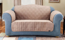 Sure Fit Loveseat Pet Throw Cover Taupe w/ Double Diamond Quilt Pattern