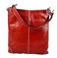 Borsa pelle donna borsa shopper donna a spalla e tracolla rosso made in Italy