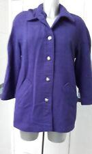 Ladies purple coat by Eastex size 14 100% wool