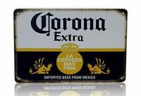 "Corona Beer Man Cave Decor Extra Vintage Retro Metal Sign 8"" x 12"""