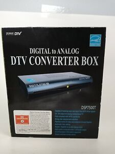 Digital to ANALOG PASS THROUGH DTV CONVERTER BOX DTX9900 New Digital Stream