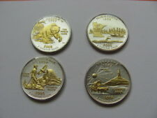GOLD AND SILVER HIGHLIGHTED U.S. STATEHOOD QUARTERS 1999-2008 YOU CHOOSE